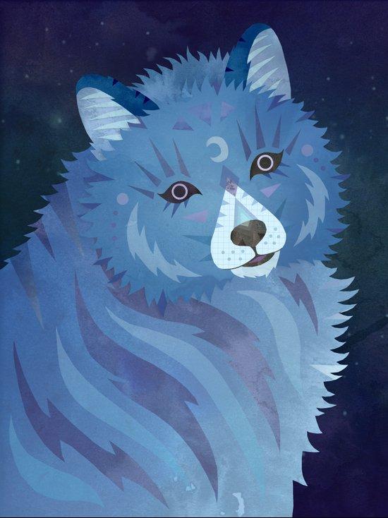 Celestial Wolf Art Print