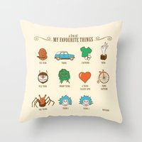 A Few Of My Favourite Th… Throw Pillow