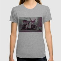 Party Animals Womens Fitted Tee Athletic Grey SMALL