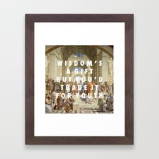 The Step Of Athens Framed Art Print