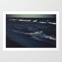 Night's Ocean Art Print