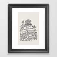 Acropole Framed Art Print