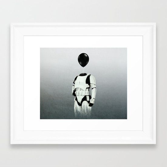 The Stormtrooper - #2 in the Balloon Head Series Framed Art Print