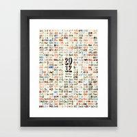 2012 Calendar // 366 Day… Framed Art Print