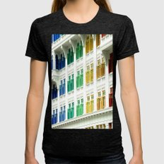 Rainbow Windows Womens Fitted Tee Tri-Black SMALL
