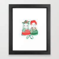 Christmas time Framed Art Print