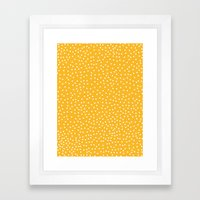 YELLOW DOTS Framed Art Print