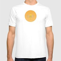 Bee Suave Mens Fitted Tee White SMALL
