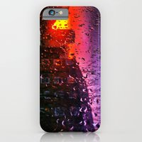 iPhone & iPod Case featuring Sunset through water droplets by Efua Boakye