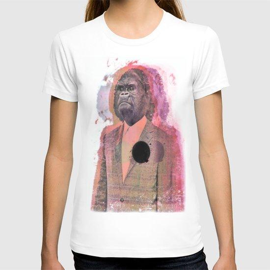 a gorilla in a suit T-shirt