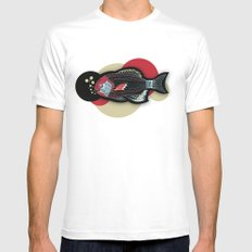 Happy New Fish  Mens Fitted Tee White SMALL