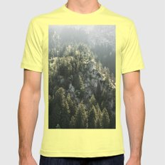 Mountain Lights - Landscape Photography Mens Fitted Tee Lemon SMALL