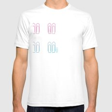 Paper Clip Love Mens Fitted Tee SMALL White