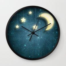 Moon & Stars 01 Wall Clock