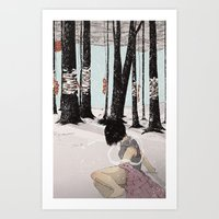 With My Hands In Sand Art Print