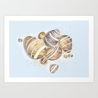 Pebbles Art Print