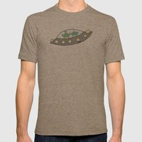 Oekie Street  Mens Fitted Tee Tri-Coffee SMALL