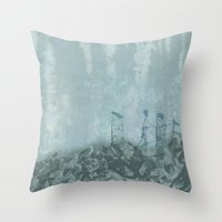 Underwater Ledge Throw Pillow