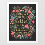 Little & Fierce On Charc… Art Print