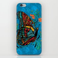 Turquoise Butterfly iPhone & iPod Skin