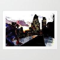 Spiderman In London Art Print