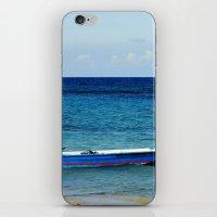 Blue Boat Red Stripe In … iPhone & iPod Skin