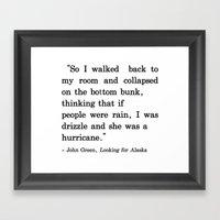 She Was a Hurricane Framed Art Print