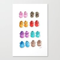Baby Moccasins Canvas Print