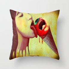 Eye Scream Throw Pillow