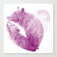 Bear your Heart Canvas Print
