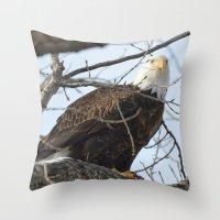 Eagles of Wisconsin 1 - A Wildlife Art Print Throw Pillow