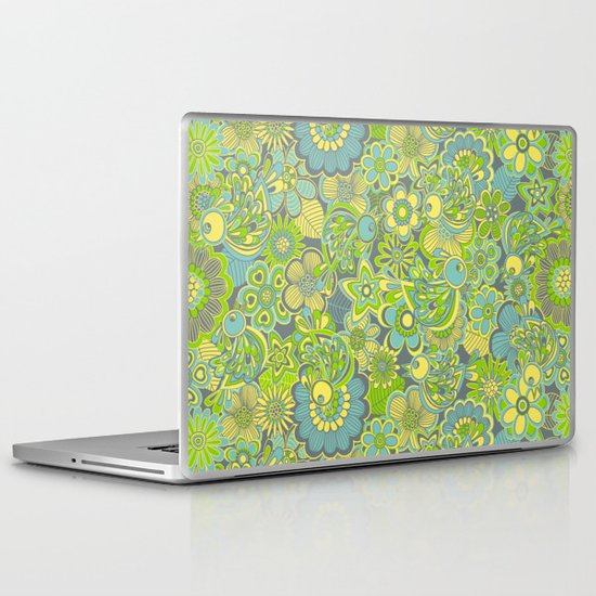Welcome birds to...green Laptop & iPad Skin