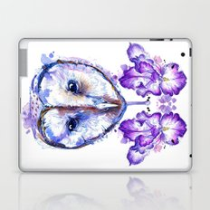 Owl and Irises Laptop & iPad Skin