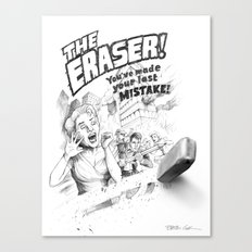 The Eraser Canvas Print