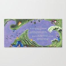 POEM OF MONSTERS Canvas Print