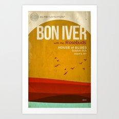 Custom Bon Iver Concert … Art Print