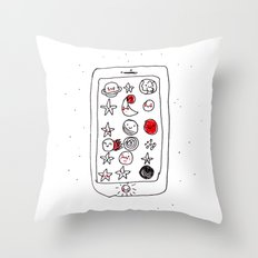 My space phone Throw Pillow