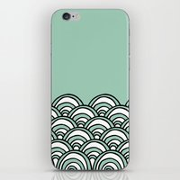 Waves Mint iPhone & iPod Skin