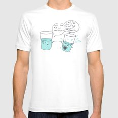 another optimistic glass White SMALL Mens Fitted Tee