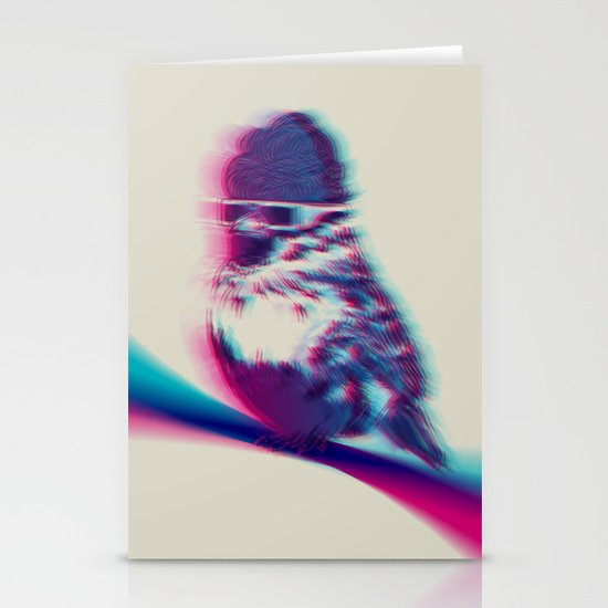 Bird Hair Day Stationery Card
