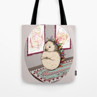 Hedgehog Artist Tote Bag