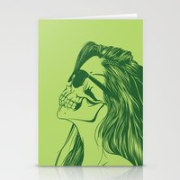 Skull Girl 2 Stationery Cards