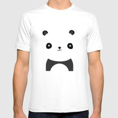 PANDA Mens Fitted Tee White SMALL