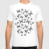 Butterflies in Flight Mens Fitted Tee White SMALL