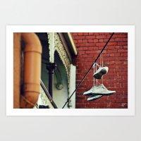 Sneakers & Pipes Art Print