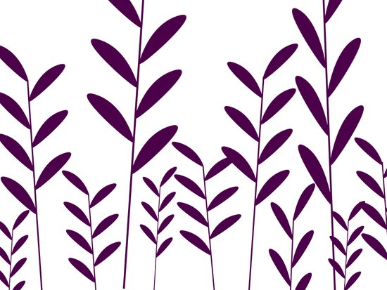 leafy silhouette 3 Art Print