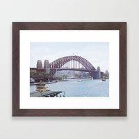 The harbour bridge Framed Art Print