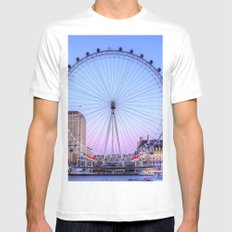 The London Eye, London Mens Fitted Tee SMALL White