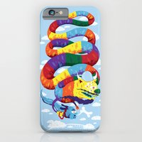 iPhone & iPod Case featuring Stan, the Forgotten Luckdragon, and His Italian Skydog Skeletori by WanderingBert / David Creighton-Pester