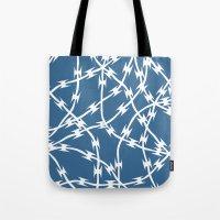 Blue Barb Tote Bag